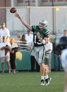 The long and big arm and eventually legs of Bart Houston helped bail out the Spartans.