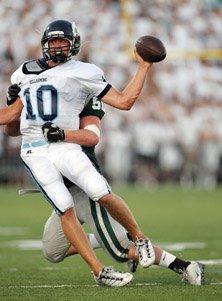 Bellarmine quarterback Travis McHugh was tough and effective all night.