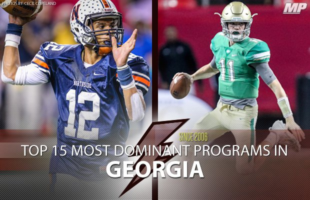 Top 15 Most Dominant Georgia High School Football Programs Since
