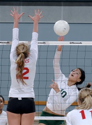 Nicole Yap (10) had 22 kills in last year's state finals.