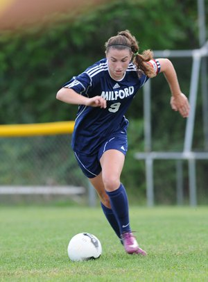 Morgan Andrews won two straight Gatorade  Soccer Player of the Year awards.