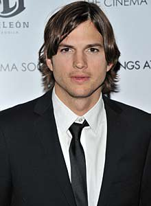 Kutcher played receiver and linebackerin high school.