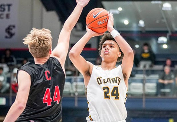 Jalen Lewis drilled a game-winning basket against defending state champion Campolindo at the 2020 MaxPreps MLK Classic.