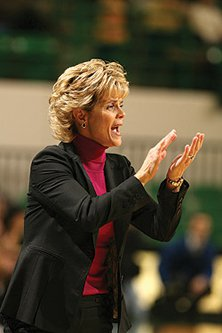 Kim Mulkey is know for her spirit on the sideline.