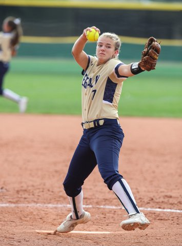 Legacy junior Hannah Farley has been part of a pitching duo, along with Isabella Kelly, that has the Lightning in position to challenge for the Class 5A state softball title.