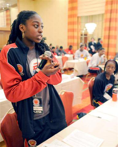 Ogwumike at a McDonald's All-American career counseling session.