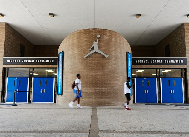 Laney High School's Michael Jordan Gymnasium was renovated via the Jordan Brand in celebration of the brand's 30th anniversary.