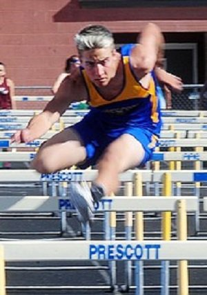 In addition to football, Amos competes  in wrestling and track and field.