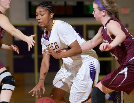 Tanaya Atkinson, center, averages 20.3 points per game, 7.9 rebounds and 3.6 steals for No. 2 Career.