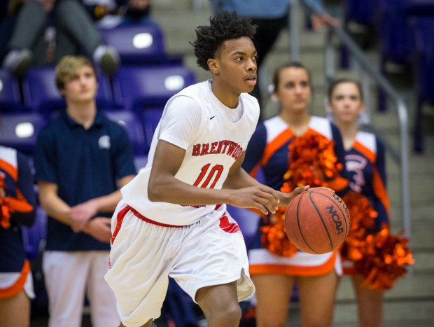 Darius Garland in action at Brentwood Academy last season.