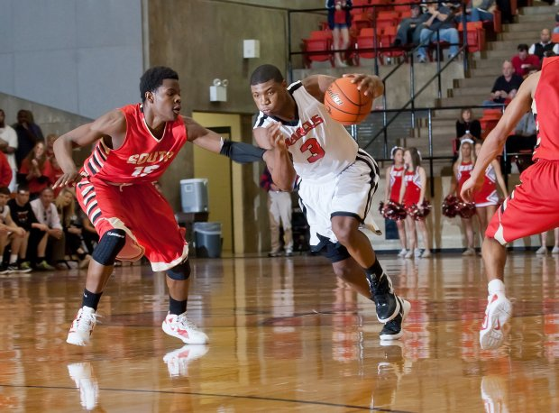Marcus Smart in playoff action as a senior against South Grand Prairie.