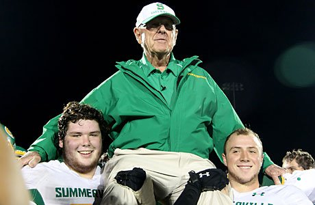 Summerville head coach John McKissick celebrated his 600th victory last season. He is the winningest active high school football coach heading into the 2013 season.