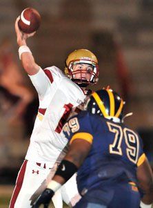 Oaks Christian junior quarterback Lucas Falk played well in spots.