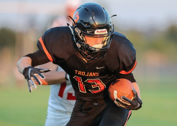 Post Falls wide receiver Tommy Hauser earned second team honors after hauling in 17 touchdown receptions.
