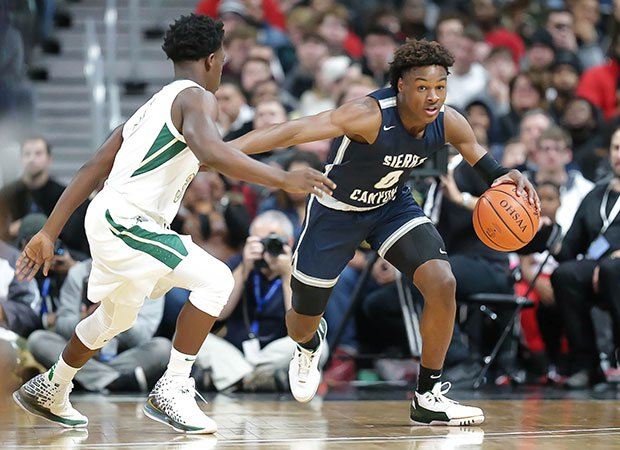 Guard Bronny James and his No. 2 Sierra Canyon teammates defeated St. Vincent-St. Mary in the Ohio Play By Play Classic.