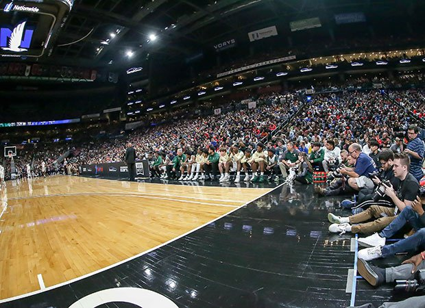 A big crowd was on hand for Saturday's showdown at Nationwide Arena.