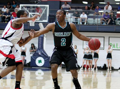 Sheldon senior D'Erryl Williams didn't have a big game (eight points) but his tenacity fighting through a sprained ankle proved decisive in a thrilling overtime win over Salesian Tuesday.