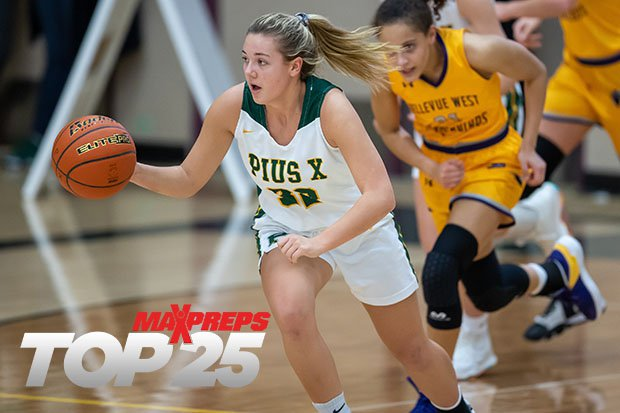 Sophomore Adison Markowski (pictured) and senior sister Alexis have helped Pius X of Lincoln, Neb., win 24 games in a row dating back to last season.