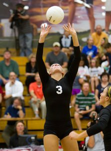 Junior setter Kelly Hunter had plenty of firepower to deliver the ball for the MaxPreps  2011-12 Female Team of the Year.