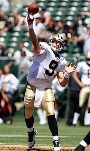 Drew Brees of the New Orleans Saints.