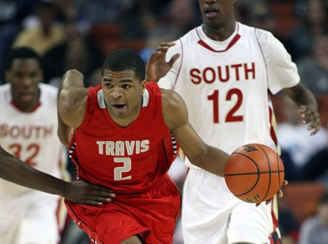 Aaron Harrison and Fort Bend Travis eliminated the taste of last year's loss in the title game with a Texas state title.