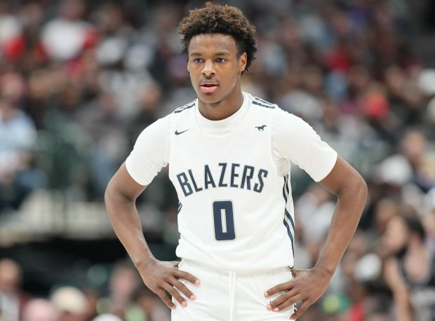 Bronny James made his high school debut in the state of Texas on Saturday, helping Sierra Canyon to a three-point win.
