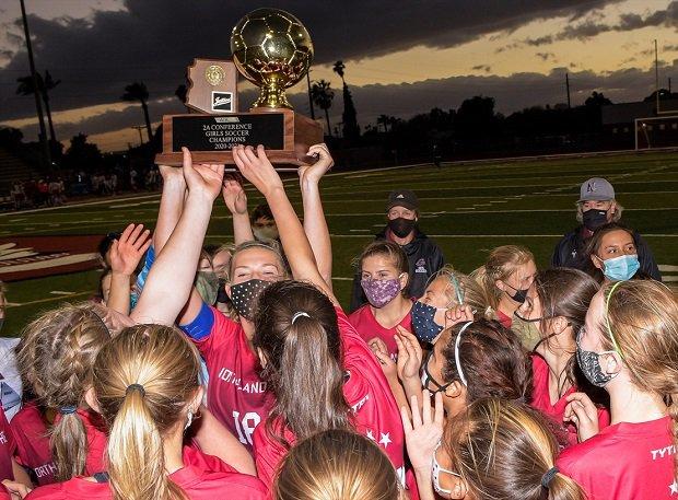 Northland Prep Academy celebrates its 2A Arizona championship.