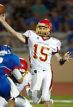 Thomas Sperbeck accounted for all four of  Jesuit's touchdowns as they defeated Christian Brothers.