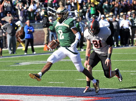 Dontre Wilson (2) finishes off Coppell's fate for DeSoto with another touchdown run on Saturday.
