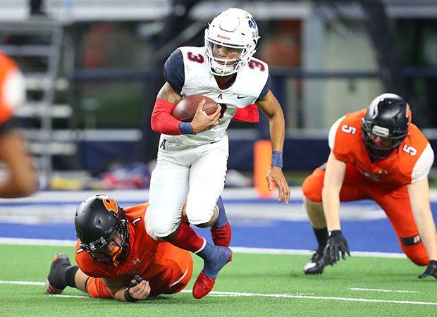 Allen quarterback Raylen Sharpe threw for five touchdowns in the loss.