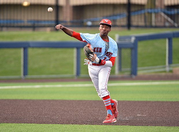 Kenwood's D'eric Shenault was one of the Great Lakes region's leaders in stolen bases the last two weeks.
