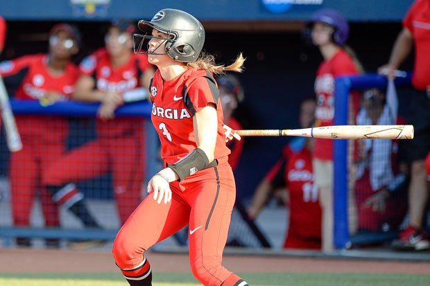 In her final season at Georgia in 2018, Kendall Burton hit .363 in 61 games with 61 hits.