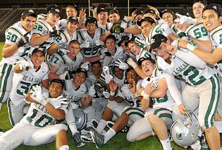 De La Salle finished No. 1 in 2011 after its state championship win over Westlake.