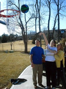 Meier not only had to regain hershooting stroke, but also the balance necessary for consistent shots.