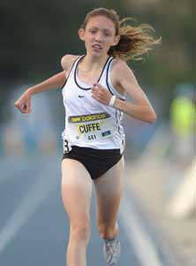 Aisling Cuffe set two national-besttimes at the New York Loucks Games.
