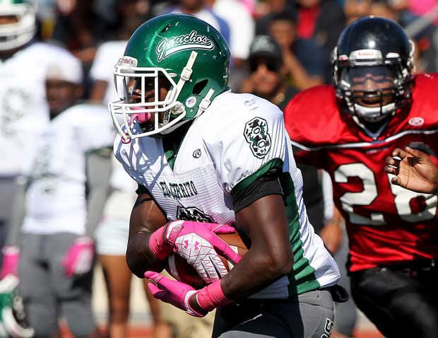 Adarius Pickett rushed for 256 yards and four touchdown leading El Cerrito to a huge 54-38 win over No. 1 seed Marin Catholic in the NCS Division III title game at Burrell Field in San Leandro on Friday. See more below.
