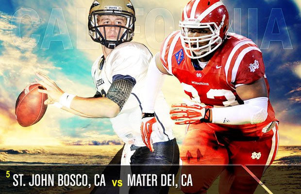 It's a Trinity League blockbuster this week as Mater Dei will look to spoil St. John Bosco's run at a mythical national championship.