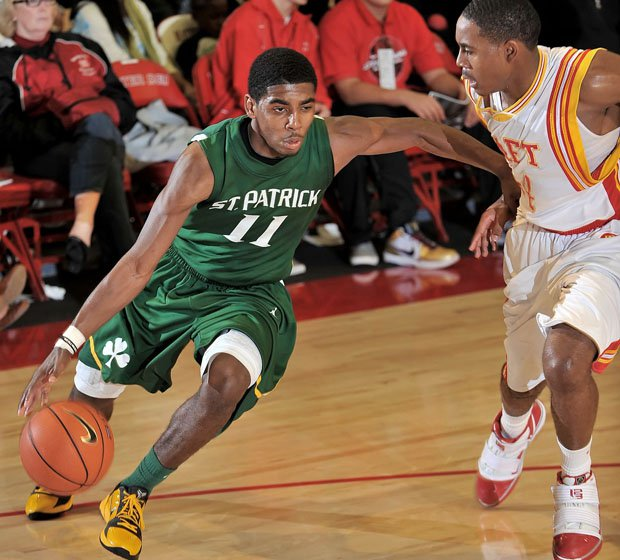 Kyrie Irving starred at two high schools in New Jersey.