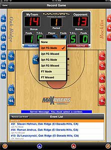 MAXPREPS COM RELEASES MAXSTATS FOR BASKETBALL ON THE IPAD