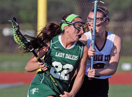 Amanda Turturro, left, and No. 7 Farmingdale edged No. 16 Garden City in a down-to-the-wire thriller on Long Island last week.