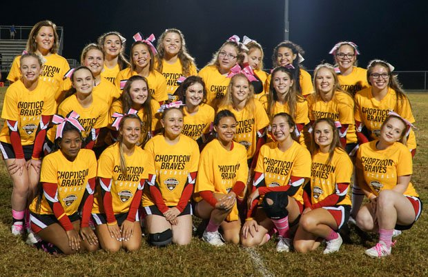 The Chopticon cheerleaders also received the highest award for raising the most money.