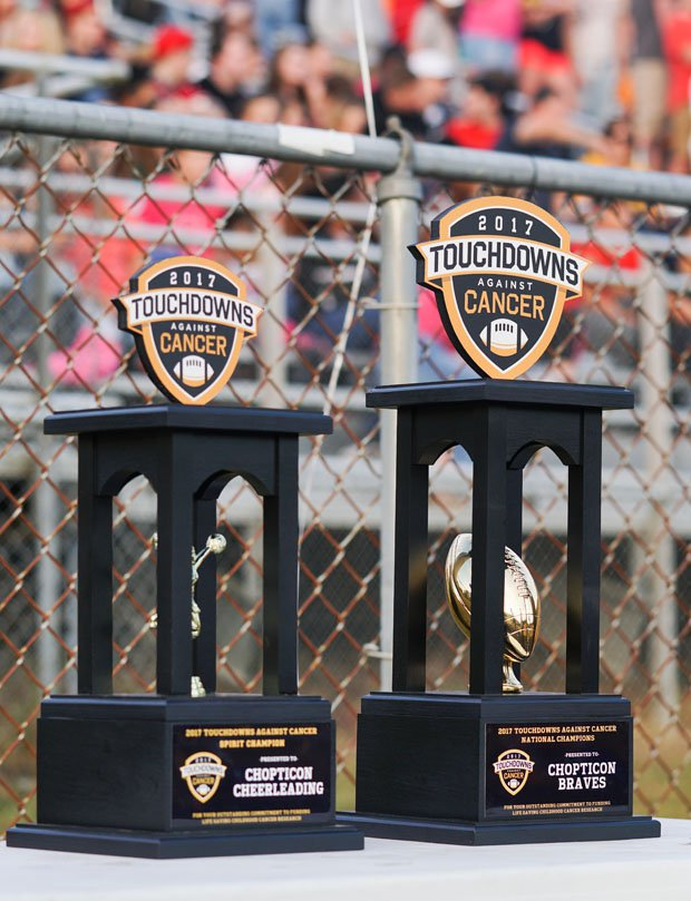 Chopticon earned the 2017 Touchdowns Against Cancer National Champions and Spirit Champion awards.