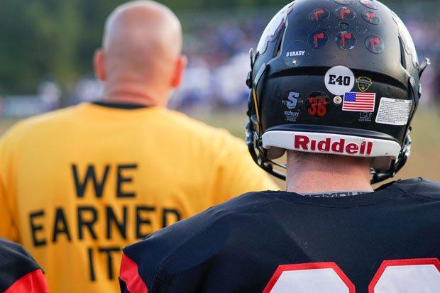 Chopticon players wore Touchdowns Against Cancer helmet stickers throughout their season.