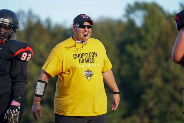 Chopticon assistant coach Mike Gallo got the ball rolling on the all the TAC drive.