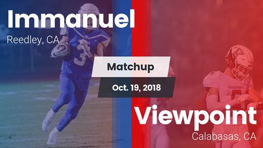 Football Game Recap: Immanuel vs. Viewpoint