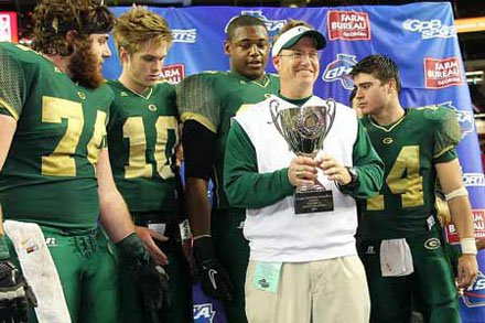 Grayson coach Mickey Conn celebrates with his team.