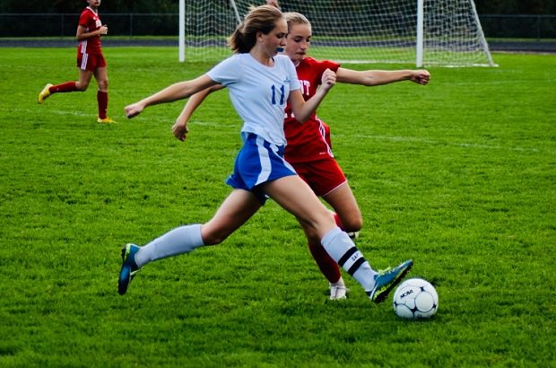 Mollie Durand is a captain for her Inter-Lakes soccer team as a junior and the three-sport athlete scored a career-high 12 goals for the Lakers this season.