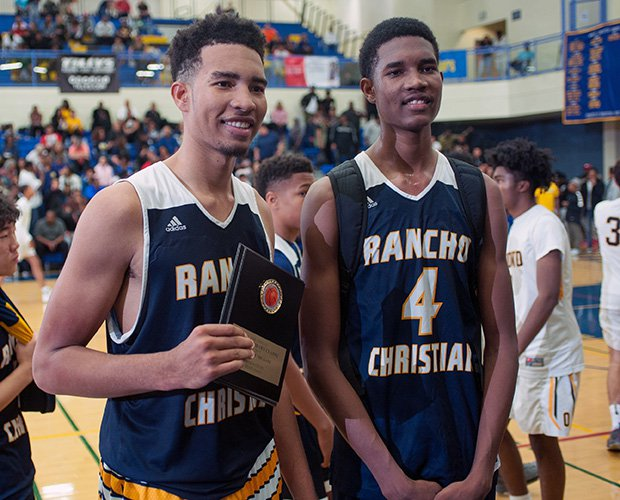 Rancho Christian will be led by the Mobley brothers, Isaiah (left) and Evan.