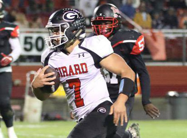 Girard quarterback Mark Waid has accounted for 39 touchdowns for the undefeated Indians.