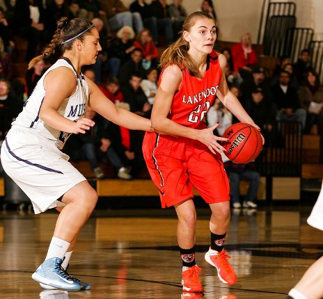 Sophomore McKenna Bishop is averaging nearly a double-double for Lakewood this season.